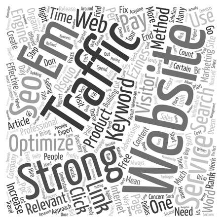 seo services: Increase Website Traffic with SEO Services text background wordcloud concept Illustration