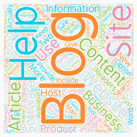 make summary: Increase Your Business With A Blog text background wordcloud concept Illustration
