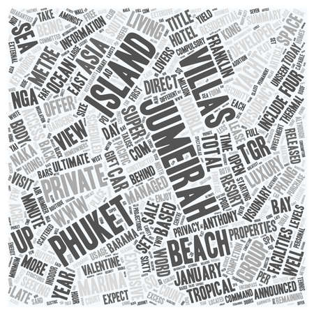 Jumeirah Residences For Sale On Jumeirah Private Island text background wordcloud concept