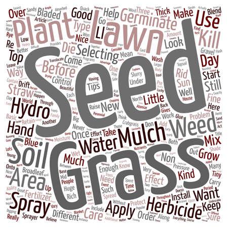 Lawn Care Tips text background wordcloud concept Ilustração