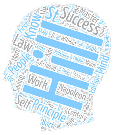 part of me: Law Of Success Part I text background wordcloud concept