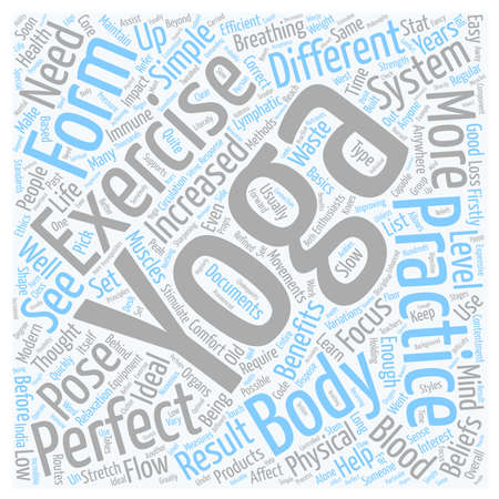 let s: Is Yoga the Perfect Exercise text background wordcloud concept