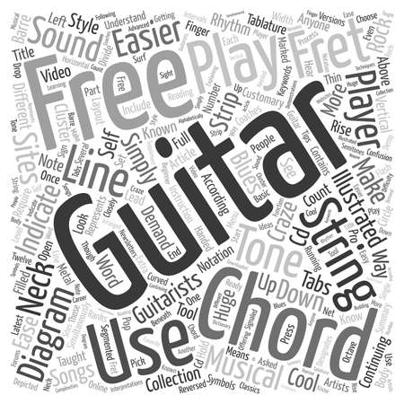 craze: Know Your Free Guitar Chords text background wordcloud concept