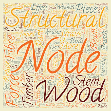 Knots Of Wood Insight Look text background wordcloud concept Illusztráció