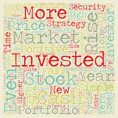 make summary: Investment Strategy The Investor s Creed text background wordcloud concept