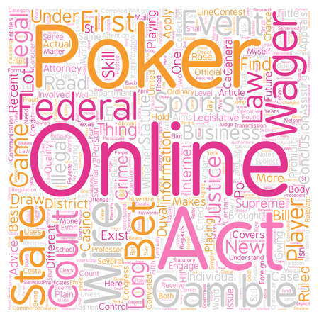 qualify: Is Online Poker Legal text background wordcloud concept Illustration