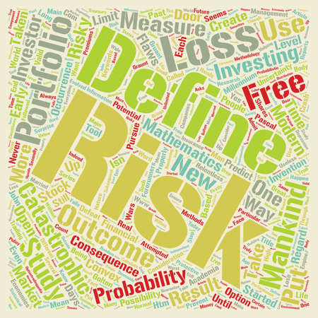 mankind: Investment Series Risk Free Investment Methodology text background wordcloud concept Illustration