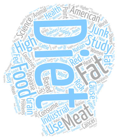 Industrialized Countries Use American Diet Based On Junk Science text background wordcloud concept