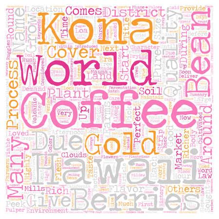 Kona Coffee Gold del concepto de wordcloud de fondo de texto de Hawaii Foto de archivo - 68121988