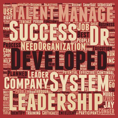 Leadership Development Secure Le concept de wordcloud d'arrière-plan de texte de l'avenir