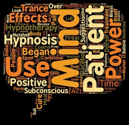 Is Hypnosis A Circus Act text background wordcloud concept Vektorové ilustrace