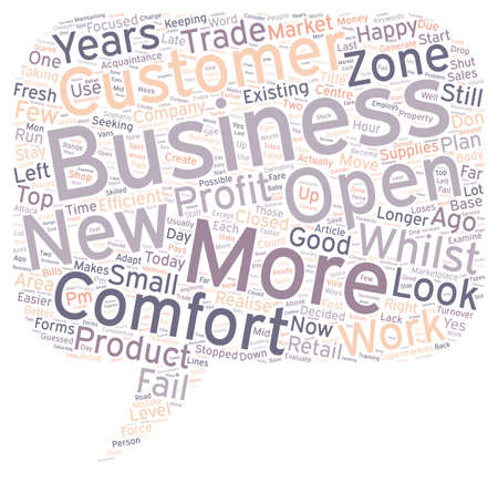 acquaintance: Is Your Business In The Comfort Zone text background wordcloud concept Illustration