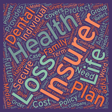 glance: Insurance Coverage at a Glance text background wordcloud concept