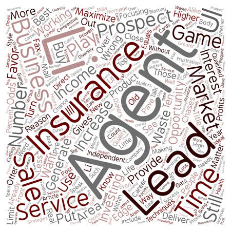 leads: Insurance Leads Services Pave the Way for Success text background wordcloud concept