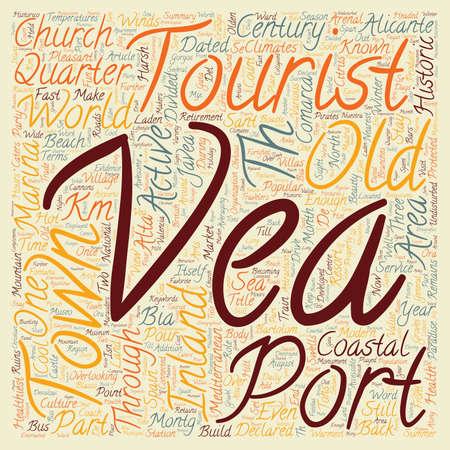 Javea A Coastal Paradise text background wordcloud concept