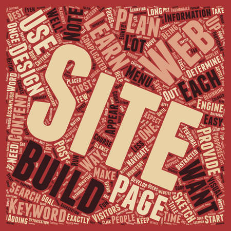 web site: Learn To Build A Web Site text background wordcloud concept