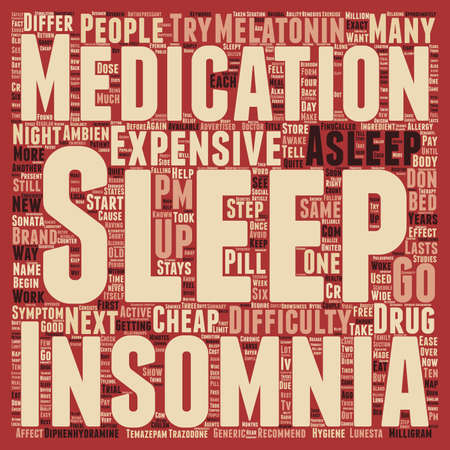 Insomnia text background wordcloud concept