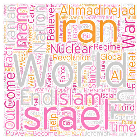 Iran Israel the th Imam text background wordcloud concept