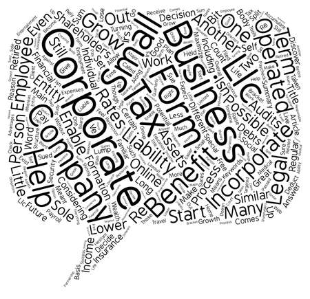 long term: Incorporate Your Business for Long Term Benefits text background wordcloud concept