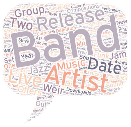 scholarly: Jam Bands text background wordcloud concept Illustration