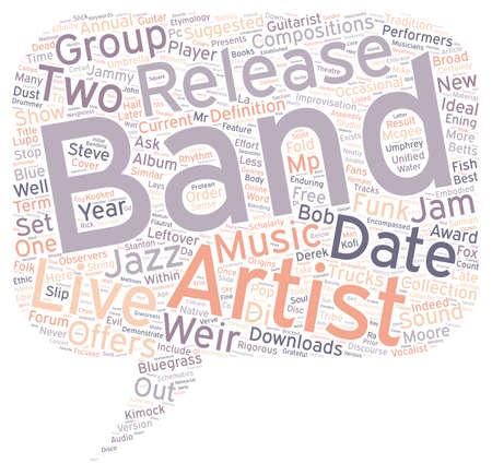 Jam Bands text background wordcloud concept Illustration