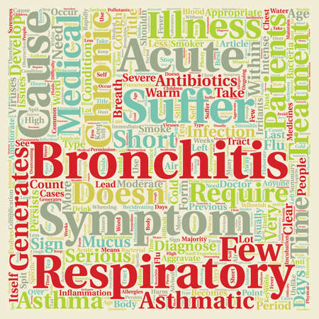 bronchitis: Issues on Asthmatic Bronchitis text background wordcloud concept