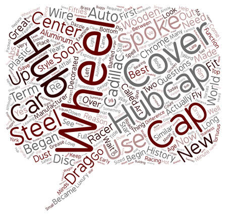 hubcaps: Hubcaps The History of the Great Cover Up text background wordcloud concept Illustration