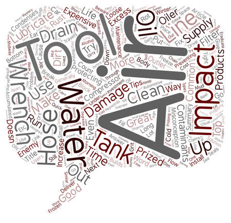 impact wrench: Impact Wrench Maintenance Tips text background wordcloud concept