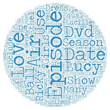 I Love Lucy Season 3 DVD 검토 텍스트 배경 wordcloud 개념