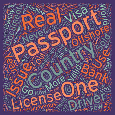 recognized: Identity Document Scams text background wordcloud concept