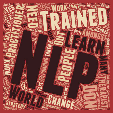 rightly: I Love Nlp But I m Not A Nerd text background wordcloud concept