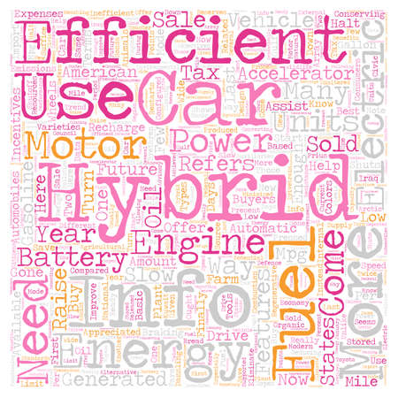 hybrid: hybrid cars info text background wordcloud concept