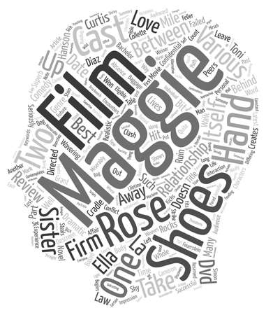 In Her Shoes DVD Review text background wordcloud concept