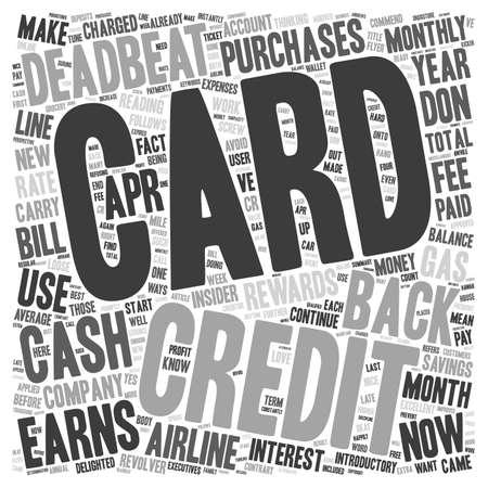 I m una tarjeta de crédito Deadbeat Usted puede ser uno de texto Demasiado concepto de fondo wordcloud Ilustración de vector