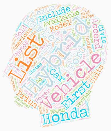 hybrid vehicles list 1 text background wordcloud concept