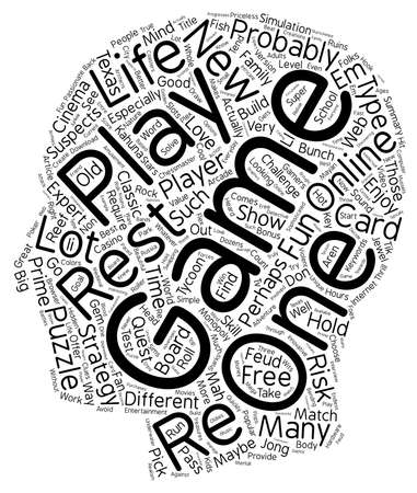 If You Could Play One Game For The Rest Of Your Life What Would It Be text background wordcloud concept