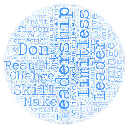 In Leadership Results Are Limitless text background wordcloud concept