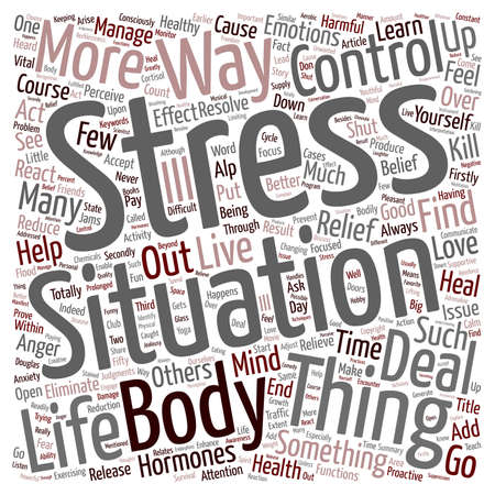 make summary: How You Can Find Stress Relief text background wordcloud concept