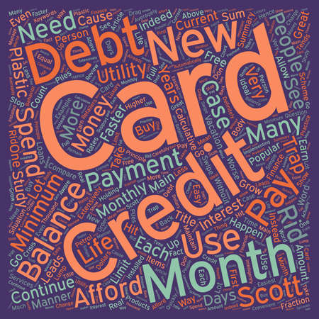 extensively: How You Trap Into Credit Card Debt text background wordcloud concept