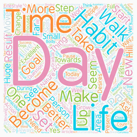aspirational: How to Improve Your Life Every Day text background wordcloud concept Illustration