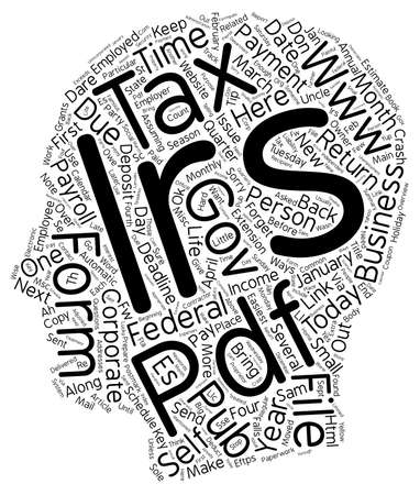 How To Keep The IRS Off Your Back And Out Of Your Life In 2006 text background wordcloud concept