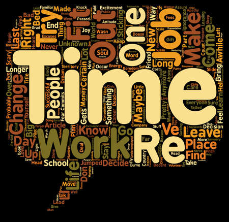 maybe: How To Leave Your Dead End Job text background wordcloud concept