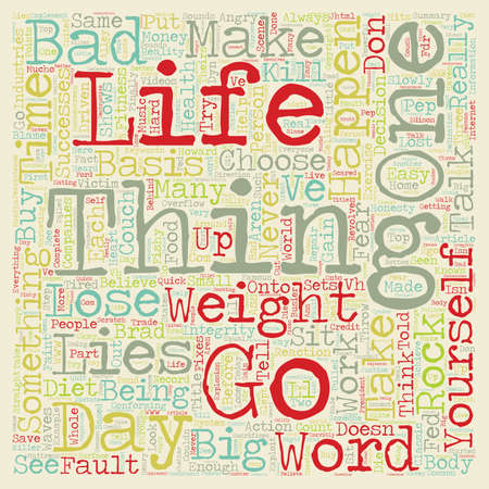 told: How to Lose Weight The Angry Pep Talk text background wordcloud concept Illustration