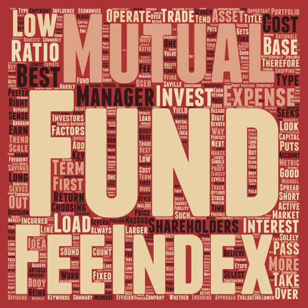 mutual: How to look for the Best No Load Mutual Funds text background wordcloud concept Illustration