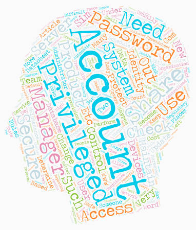 introduces: How to Keep Privileged Accounts Safe and Share Them Securely text background wordcloud concept