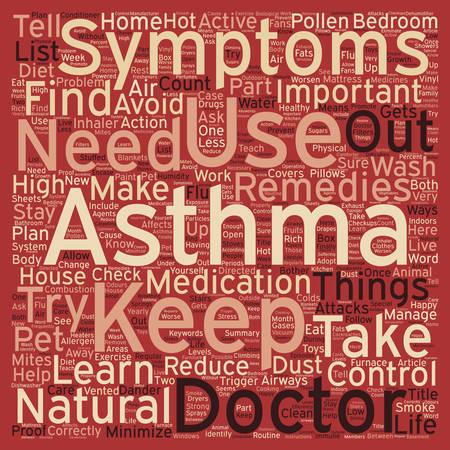 Comment vivre avec votre concept de wordcloud de fond de texte de l'asthme