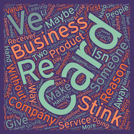 supposed: How To Know If Your Business Card Stinks text background wordcloud concept