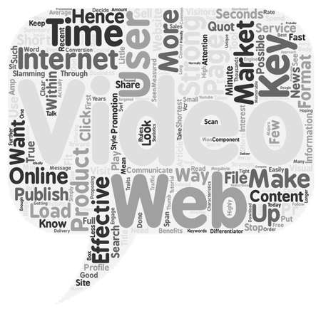 clouds making: How To Effectively Market With Video On The Web text background wordcloud concept