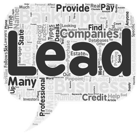 leads: How To Find Qualified Bankruptcy Leads text background wordcloud concept