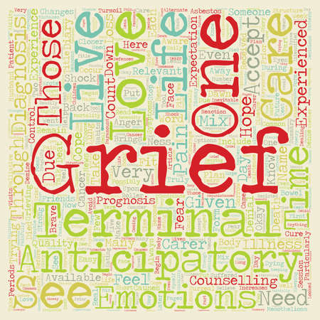 How to Cope with Anticipatory Grief text background wordcloud concept